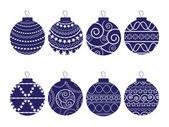 Christmas balls set — Stock Vector