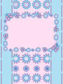 открытка с цветами — Cтоковый вектор