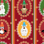 Christmas seamless background — Vector de stock