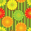 Royalty-Free Stock Vector Image: Seamless background withl sliced citrus fruits