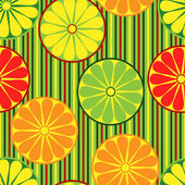 Seamless background withl sliced citrus fruits — Stock Vector