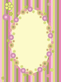 Greeting card with floral frame — Stock Vector
