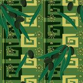 オリーブとのシームレスなパターン — ストックベクタ