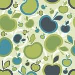 Apple seamless background — Stock Vector