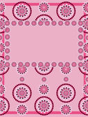 Greeting card with abstract floral pattern — ストックベクタ