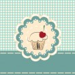 Vector de stock : Cupcake invitation card