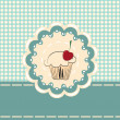 Stock Vector: Cupcake invitation card