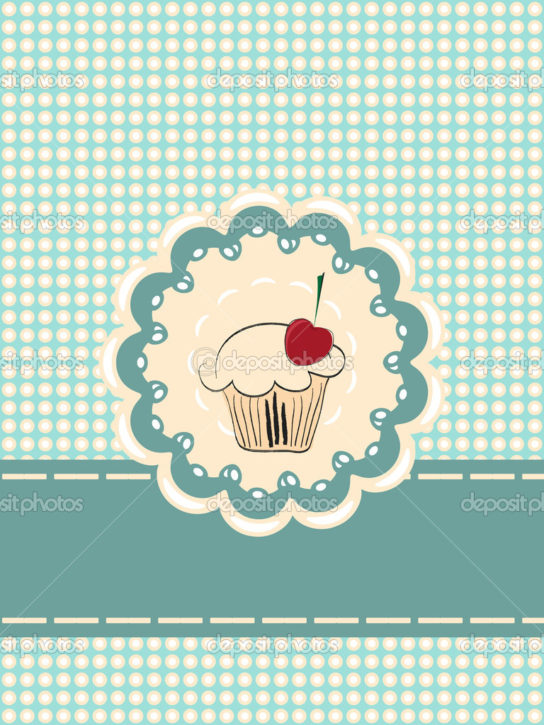 Cupcake invitation card — Stock Vector #6364020