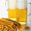 Royalty-Free Stock Photo: Pretzels and beer