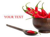 Varm röd paprika — Stockfoto