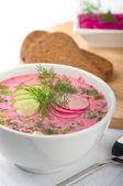 Sopa de remolacha fría — Foto de Stock