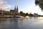 Sunset at Regensburg — Stock Photo