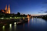Night view of Regensburg — Stock Photo