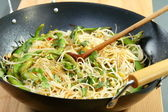 Rice noodles in spicy souche. — Stock Photo
