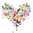Royalty-Free Stock Векторное изображение: Butterfly heart, valentine illustration. Element for design