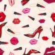 Seamless lips background - Stok Vektr