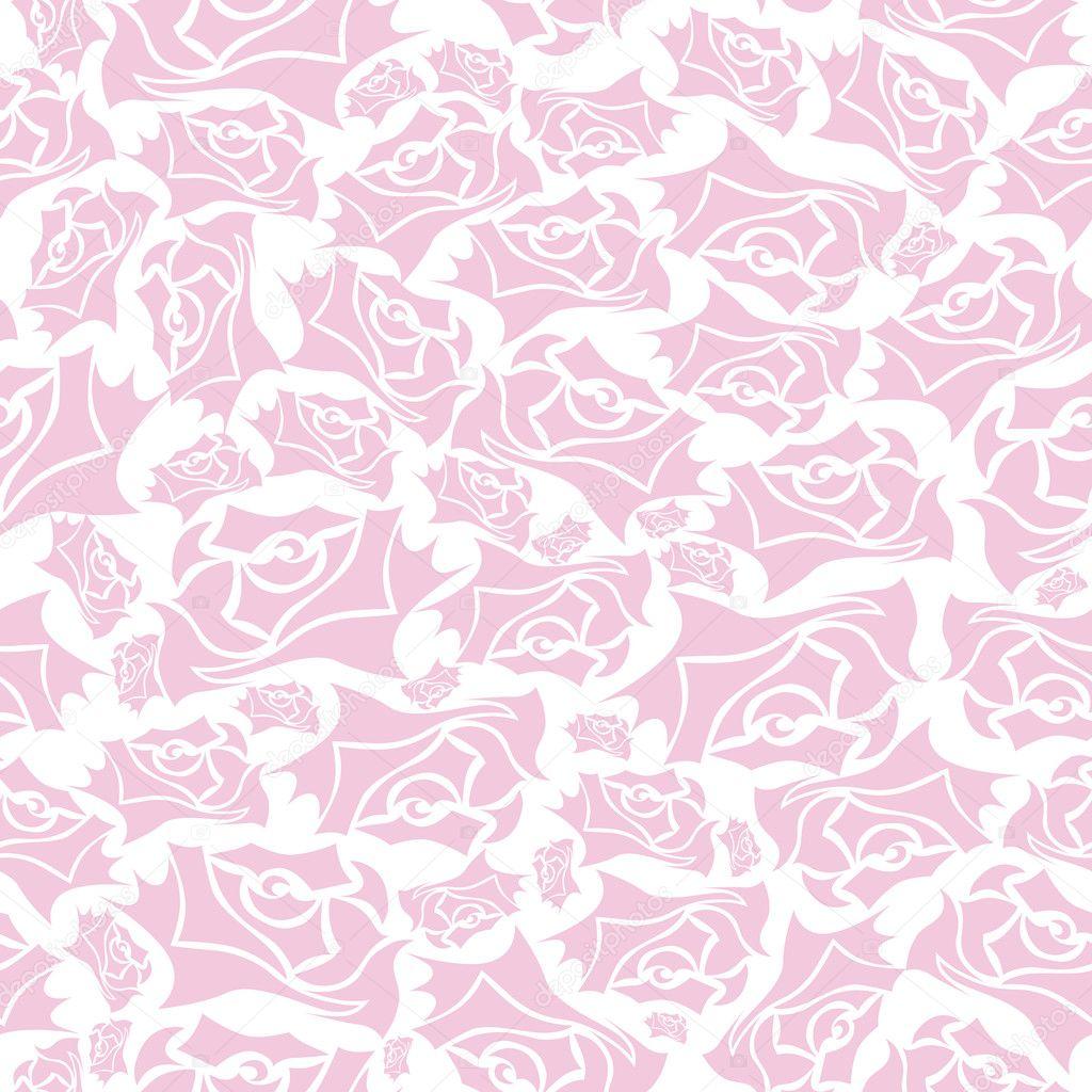 Pink Brown Striped Flower Wallpaper