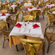 Banquet tables — Foto Stock