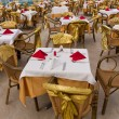 Banquet tables — Stockfoto