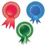 Blank award ribbon rosette for winner — Stock Vector