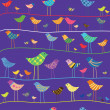 Royalty-Free Stock Vector Image: Vector funny bird. Seamless pattern.