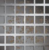 Metallic square fence background. — Stock Vector