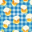 Oktoberfest background. Beer wallpaper. — Stock Vector