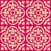 Red royal pattern — Stock Vector