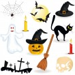 Halloween icons — Vector de stock #6375148
