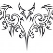 Royalty-Free Stock Vectorielle: Tattoo bat.