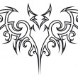 Royalty-Free Stock Imagem Vetorial: Tattoo bat.
