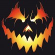 Halloween background. Scary pumpkin. — 图库矢量图片
