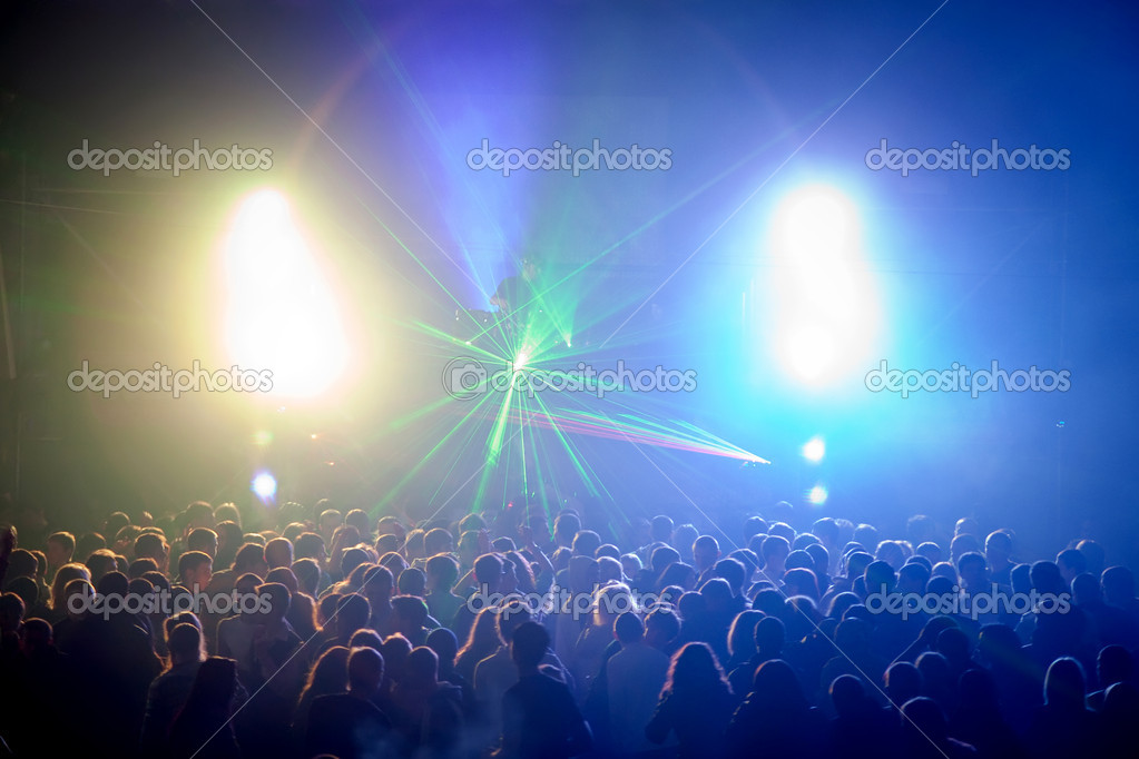 A dj performing at a disco rave — Stock Photo #5866925