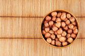 Hazelnut in a bowl — Stock Photo