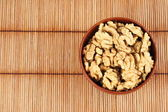 Walnut in a bowl — Stock Photo