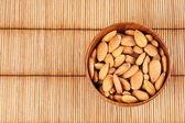 Walnut in a bowl — Stock Photo