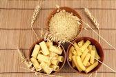 Pasta and makaroni — Stock Photo