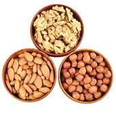 Wood, walnut, almond — Stock Photo