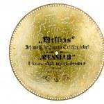 Metall Diskette aus Antike Spieluhr — Stockfoto