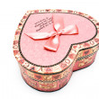 Colorful gift paper box heart — Stock Photo