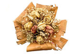 Bouquet of dried roses flowers — Stock Photo