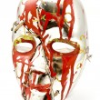 Stock Photo: Broken and repaired carnival mask