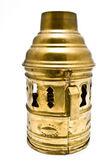 Decorative lantern brass cover — Stock Photo