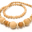 Stock Photo: Necklace made of yellow wooden balls