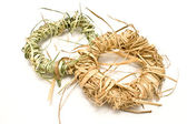 Wreaths made of straw — Stock Photo