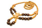 Collier avec perles en bois — Photo