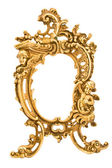 Antique baroque brass frame — Stock Photo