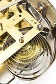 Inside mechanism of old alarm clock — Stock Photo