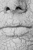 Máscara de sujeira na pessoa da jovem — Fotografia Stock
