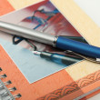 The handle on a notebook - Stock Photo